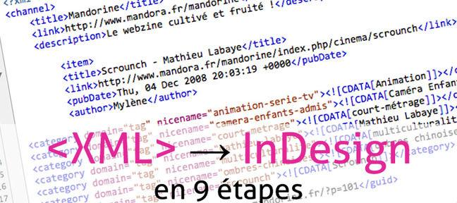 Visuel Importer un flux XML dans InDesign