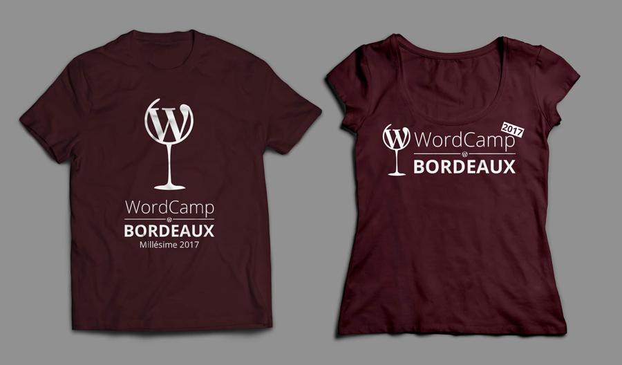T-shirts – WordCamp Bordeaux 2017
