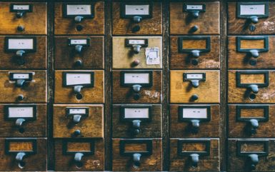 Wooden mail boxes, Boston Public Library, Boston, United States