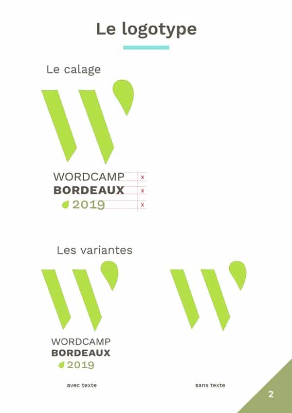 Charte graphique WordCamp Bordeaux 2019