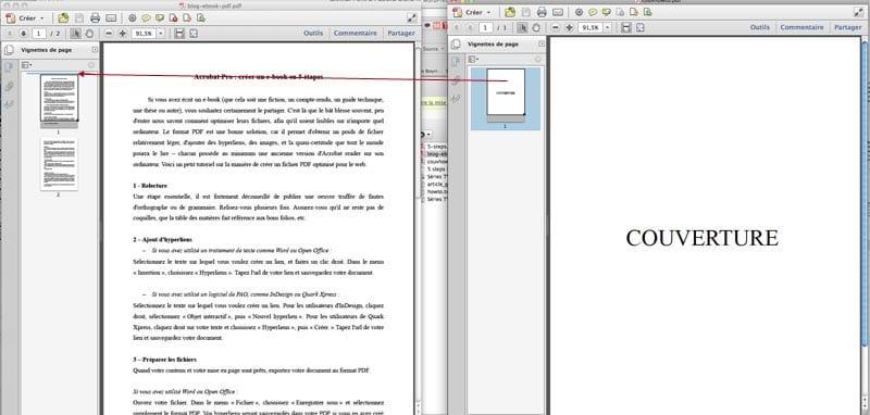 Capture d'écran: Comment Glisser-déposer la couverture dans le fichier PDF