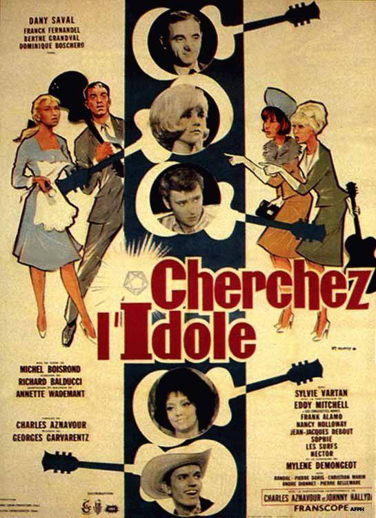 """Affiche de """"Cherchez L'idole"""" avec Sylvie Vartan"""
