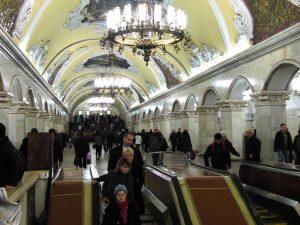 Avouons-le, c'est plus sympa que les stations parisiennes (station Komsomolskaïa-Koltsevaïa)