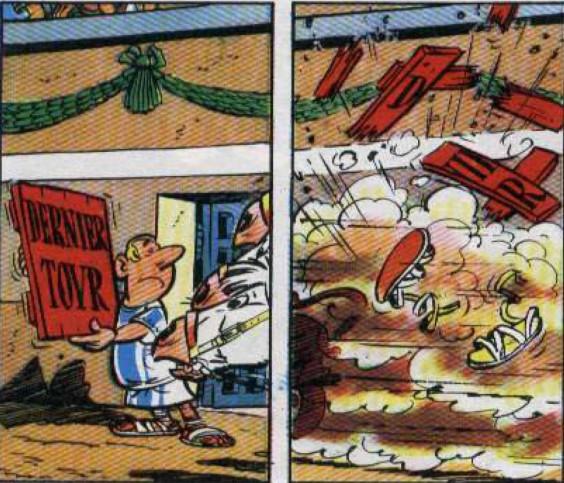 Attention à la course! © Astérix gladiateur, Goscinny & Uderzo, éditions Hachette.